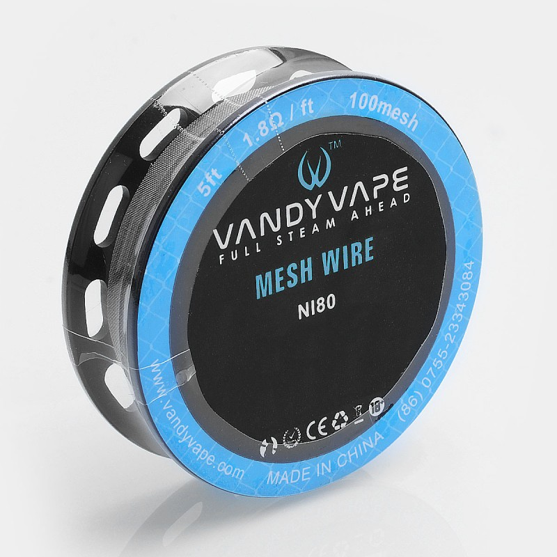 authentic vandy vape ni80 mesh wire diy heating wire for mesh rda 18 ohm ft 5 feet 100 mesh