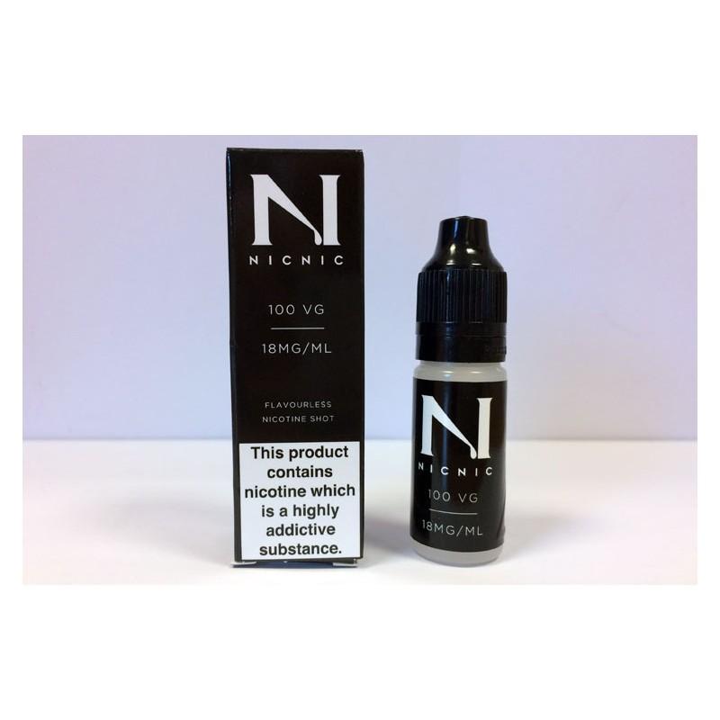 nicnic 18mg 100 vg nicotine shots flavourless