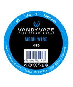 vandyvape ni80 mesh wire 1 8 ohm