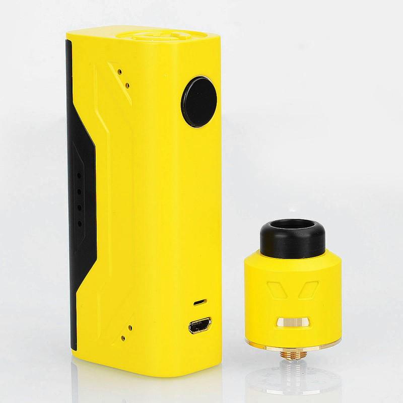 authentic smoant battlestar nano 80w box mod battlestar rda kit yellow 1 x 18650 24mm diameter