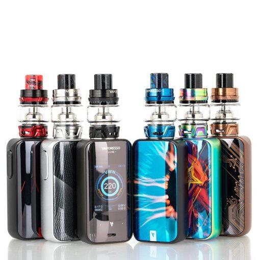 vaporesso luxe w skrr tank starter kit colors