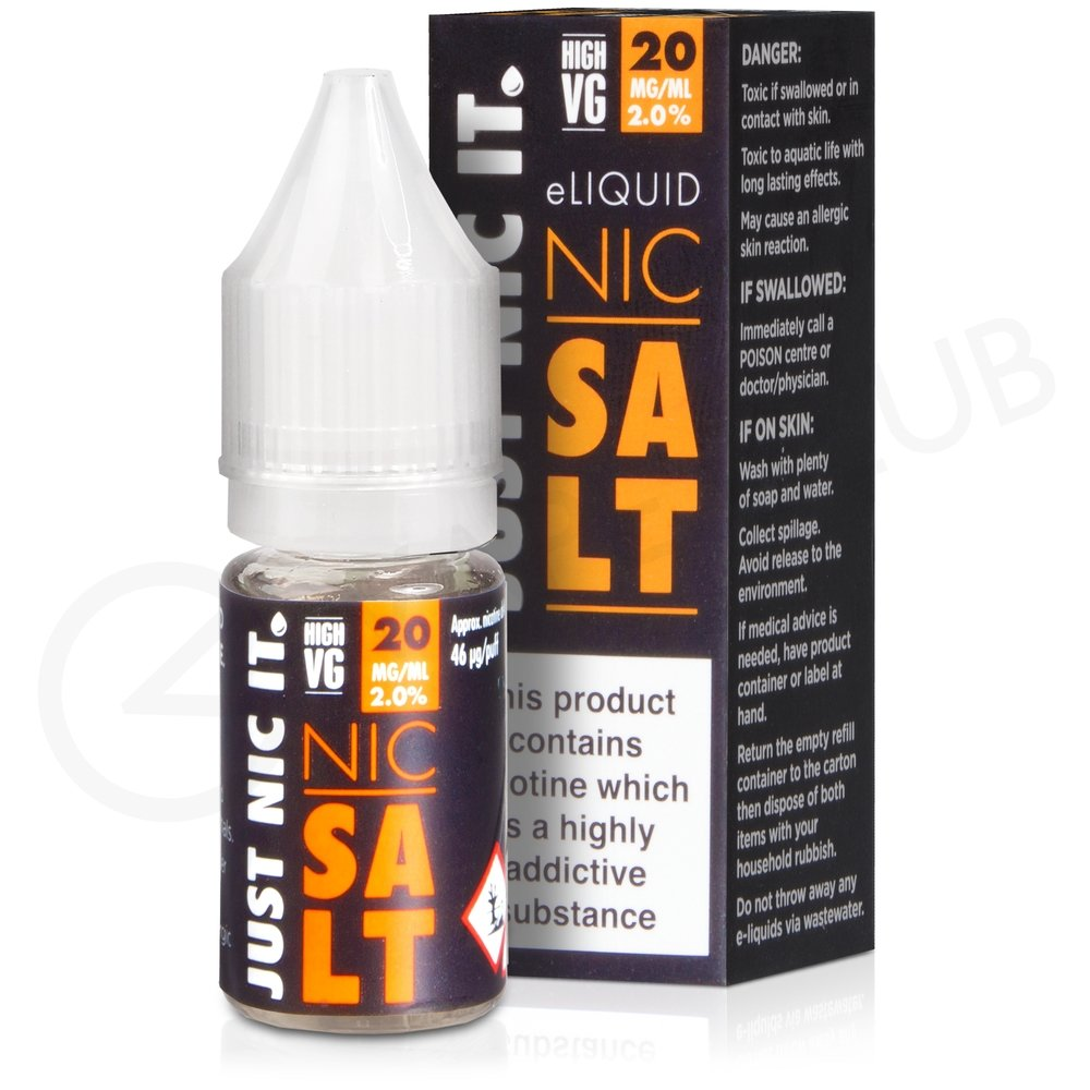 nic salt high vg nicotine booster shot by just nic it