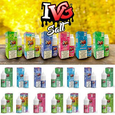 x IVG SALT All Flavours MG ml Nic