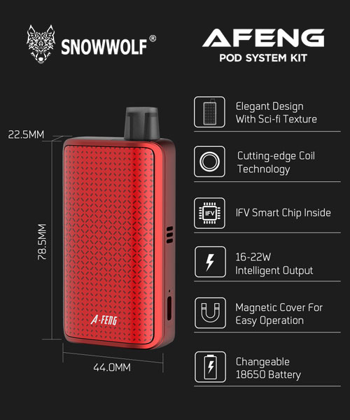 snowwolf afeng kit dimensions features