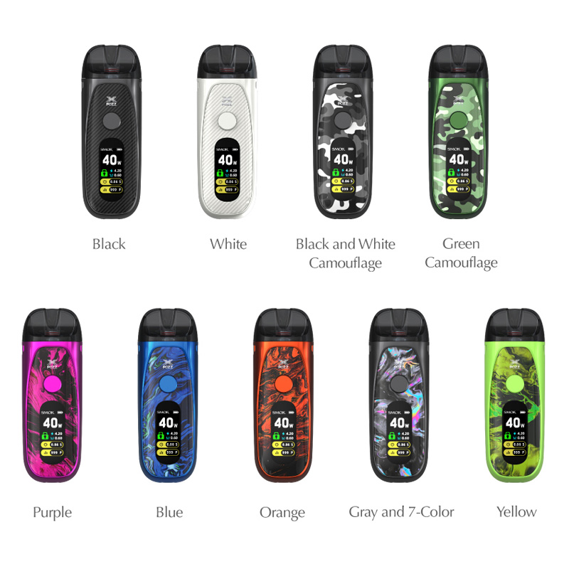 smok pozz x pod system kit colors