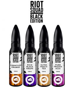 riot squad black edition ml eliquid shortfill bottles