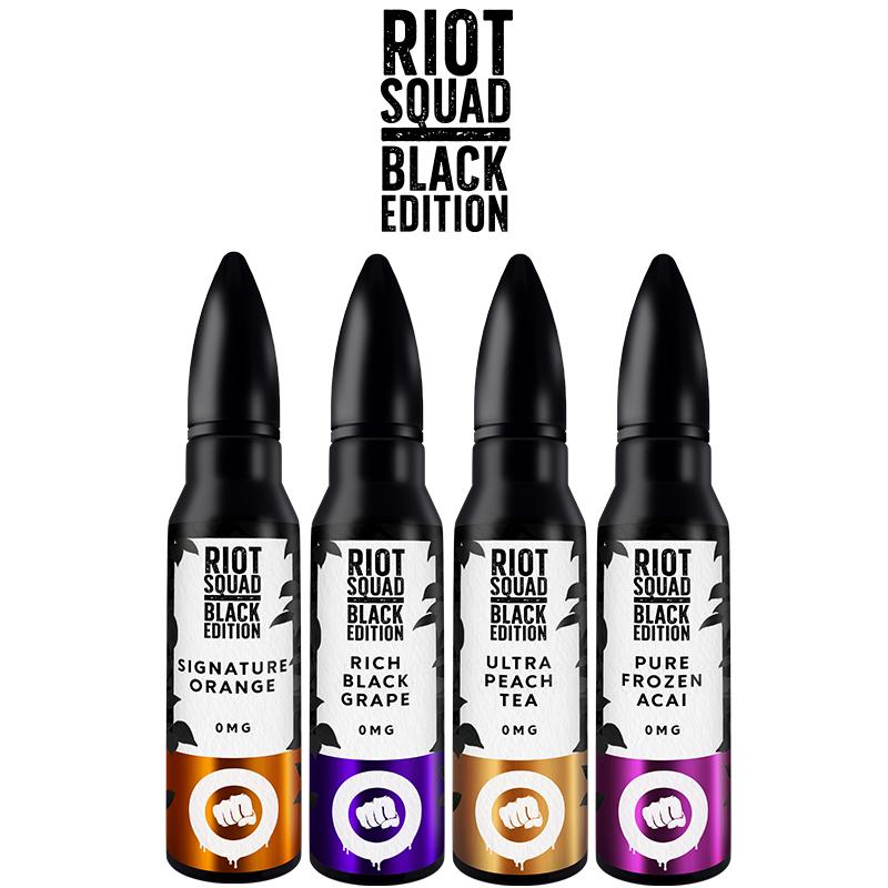 riot squad black edition ml eliquid shortfill bottles